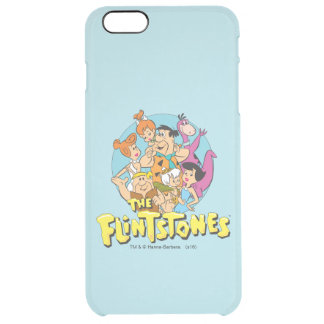 The Flintstones and Rubbles Family Graphic Clear iPhone 6 Plus Case