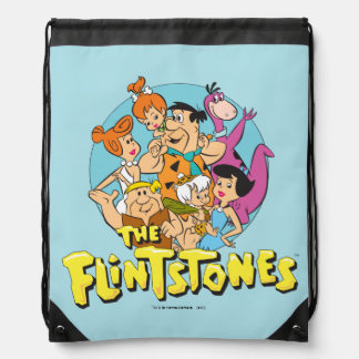 The Flintstones and Rubbles Family Graphic Drawstring Backpack