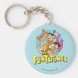 The Flintstones and Rubbles Family Graphic Keychain