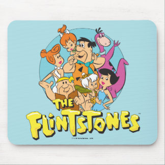 The Flintstones and Rubbles Family Graphic Mouse Pad