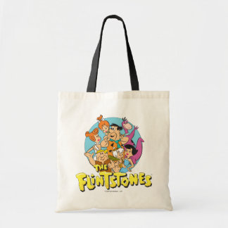 The Flintstones and Rubbles Family Graphic Tote Bag