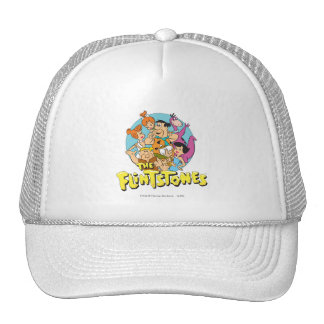 The Flintstones and Rubbles Family Graphic Trucker Hat