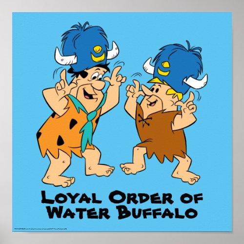 The Flintstones  Fred  Barney Water Buffaloes Poster