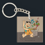 "The Flintstones | Fred Flintstone Dancing Keychain<br><div class=""desc"">Check out Fred Flintstone dancing to the music from his prehistoric bird powered radio.</div>"