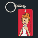 "The Flintstones | Wilma Flintstone Keychain<br><div class=""desc"">Check out Wilma Flintstone smiling.</div>"