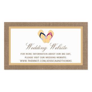 The Flip-Flop Sand Beach Burlap Wedding Collection Business Card