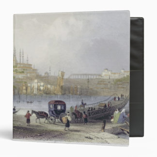 The Floating Bridge, Istanbul, engraved by J.C. Be Binder