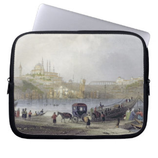The Floating Bridge, Istanbul, engraved by J.C. Be Computer Sleeve