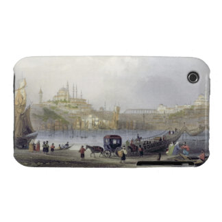 The Floating Bridge, Istanbul, engraved by J.C. Be iPhone 3 Case