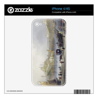 The Floating Bridge, Istanbul, engraved by J.C. Be iPhone 4 Decals