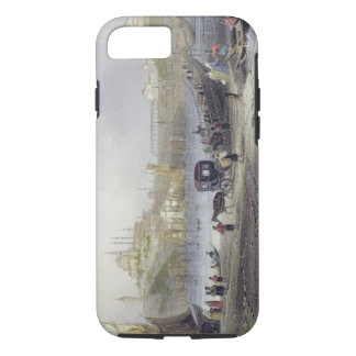 The Floating Bridge, Istanbul, engraved by J.C. Be iPhone 7 Case
