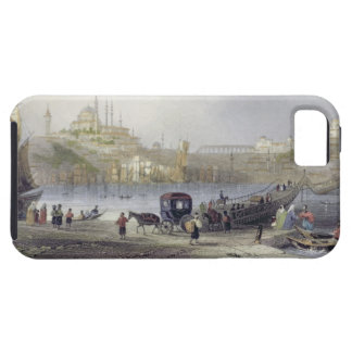 The Floating Bridge, Istanbul, engraved by J.C. Be iPhone SE/5/5s Case