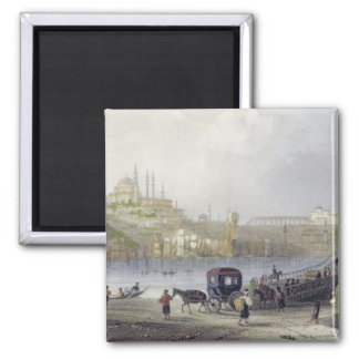 The Floating Bridge, Istanbul, engraved by J.C. Be Magnet