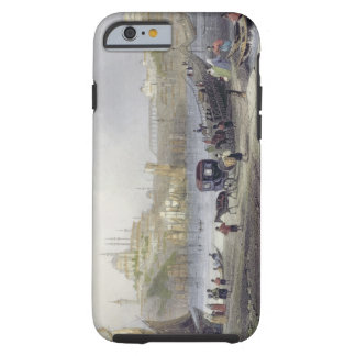 The Floating Bridge, Istanbul, engraved by J.C. Be Tough iPhone 6 Case