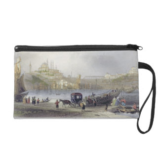The Floating Bridge, Istanbul, engraved by J.C. Be Wristlet Purse