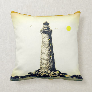 The Floating Lighthouse Throw Pillow
