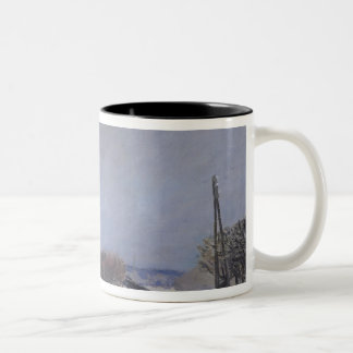 The Flood at Port-Marly, 1876 Two-Tone Coffee Mug