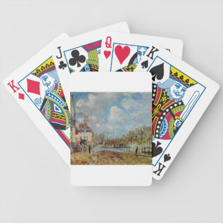 The Flood at Port Marly by Alfred Sisley Bicycle Playing Cards