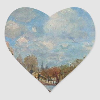 The Flood at Port Marly by Alfred Sisley Heart Sticker