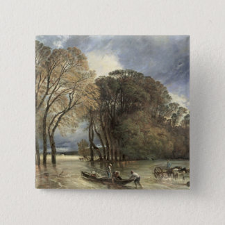 The Flood at Saint-Cloud, 1855 Pinback Button