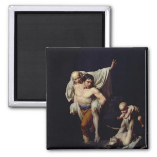 The Flood, c.1789 (oil on canvas) 2 Inch Square Magnet