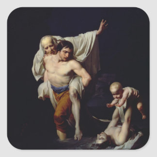 The Flood, c.1789 (oil on canvas) Square Sticker