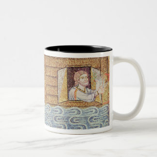 The Flood, from the Atrium, detail of Noah Two-Tone Coffee Mug