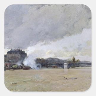 The Flooding of the Seine, c.1903 Square Sticker
