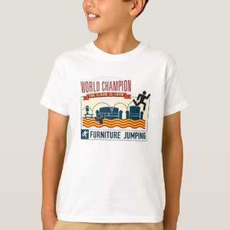 The floor is Lava. Furniture Jumping Champ. child T-Shirt