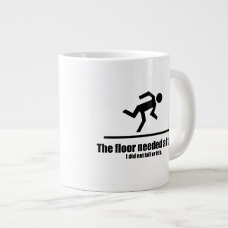 The Floor Needed a Hug Large Coffee Mug