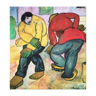 The Floor Polishers, 1911 Canvas Print