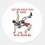 The Floor Round Sticker