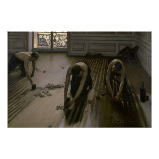The Floor Scrapers by Gustave Caillebotte Poster
