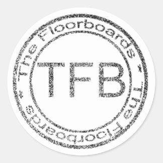 the floorboardslogo2 classic round sticker