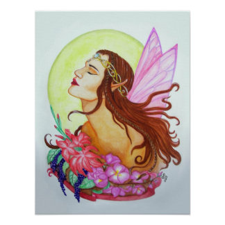 The Floral Fairy Poster