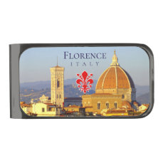 The Florence Dome (IT) Gunmetal Finish Money Clip