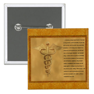 The Florence Nightingale Pledge 2 Inch Square Button