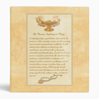 The Florence Nightingale Pledge 3 Ring Binders