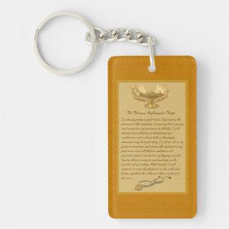 The Florence Nightingale Pledge Double-Sided Rectangular Acrylic Keychain