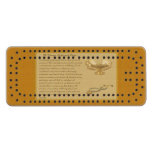 The Florence Nightingale Pledge Maple Cribbage Board
