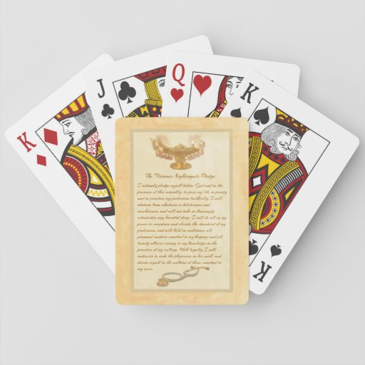 The Florence Nightingale Pledge Card Decks