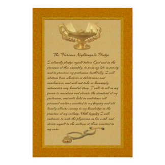 The Florence Nightingale Pledge Perfect Poster