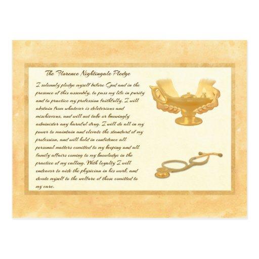 The Florence Nightingale Pledge Post Card