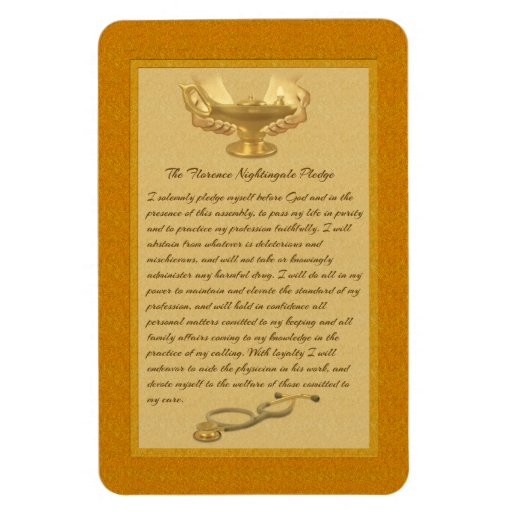 The Florence Nightingale Pledge Rectangle Magnets
