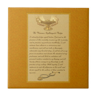 The Florence Nightingale Pledge Small Square Tile