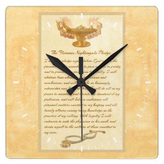 The Florence Nightingale Pledge Square Wallclock