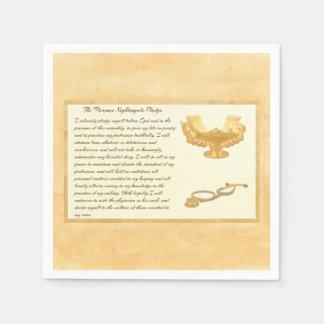 The Florence Nightingale Pledge Standard Cocktail Napkin