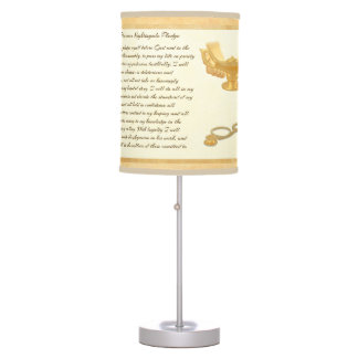 The Florence Nightingale Pledge Table Lamps