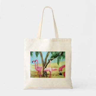 """The Florida Flamingos"" Canvas Bag"