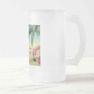 """The Florida Flamingos"" Frosted Mug"
